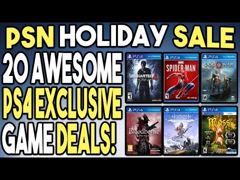 20 Awesome PS4 Exclusive Game Deals! - PSN Holiday Sale 2018!