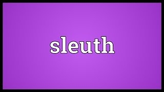 Sleuth Meaning