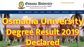OU Degree Result 2019 2020 Declared Sem 1st, 3rd, 5th Exams BA, B Sc, B Com, BBA Results