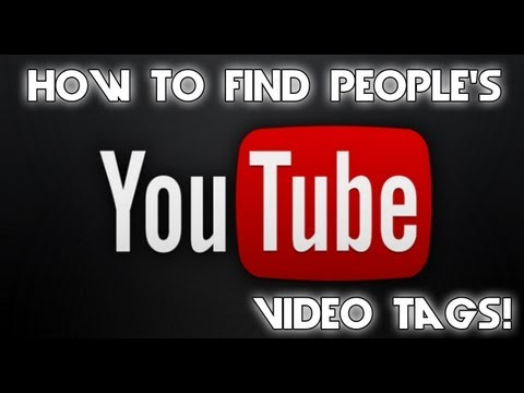 HOW TO SEE OTHER PEOPLE'S VIDEO TAGS!