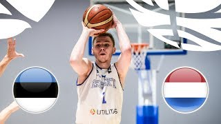 Estonia v Netherlands - Full Game - Class. 13-16 - FIBA U20 European Championship Division B 2018