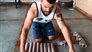 Como fazer barra de exercícios (calistenia)usando cano pvc