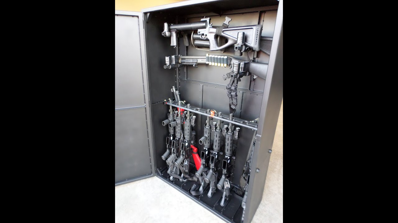 Custom Gun Cabinet For AR 15s Built For Local SWAT Team Tactical Equipment