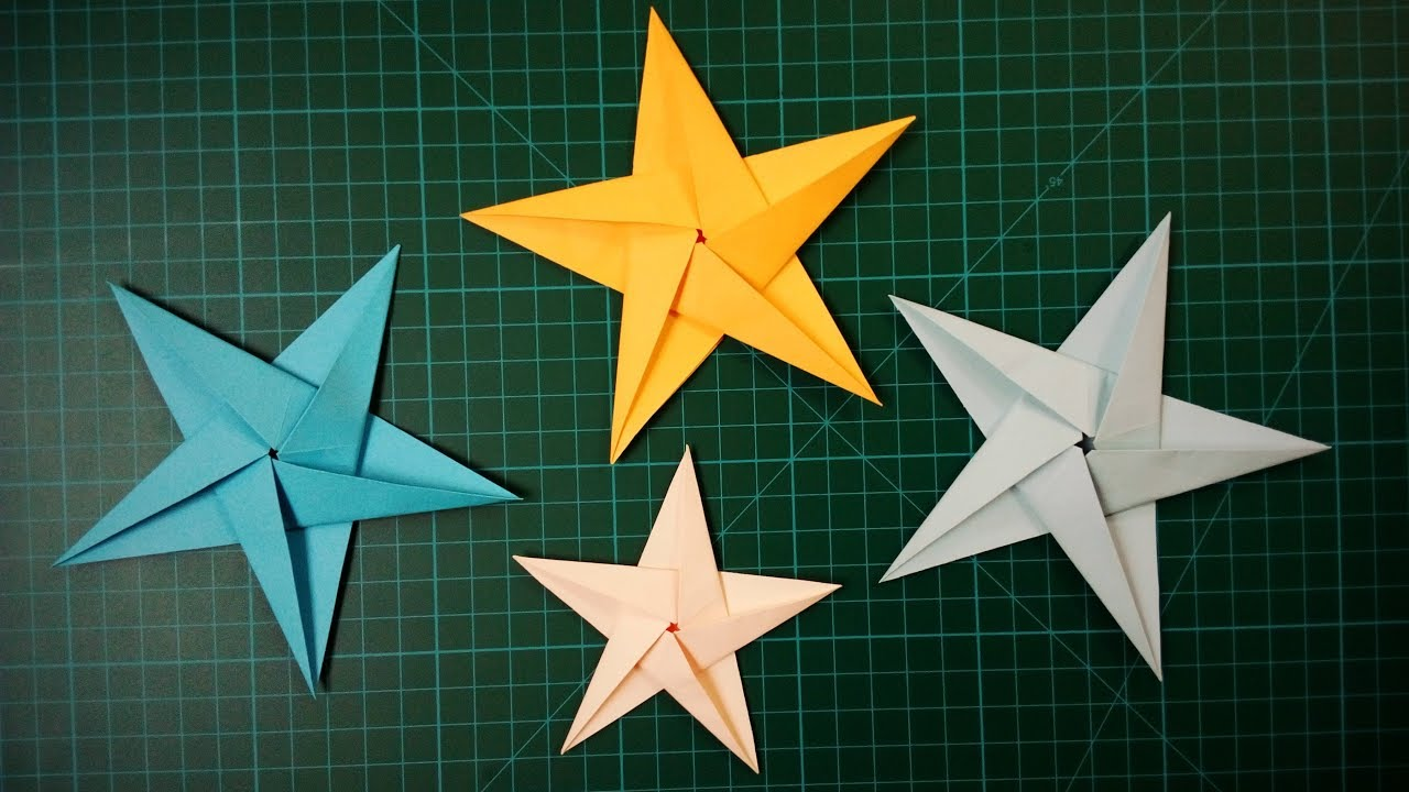 Fold Stars 5 Point Star Paper Relief Free Instructions