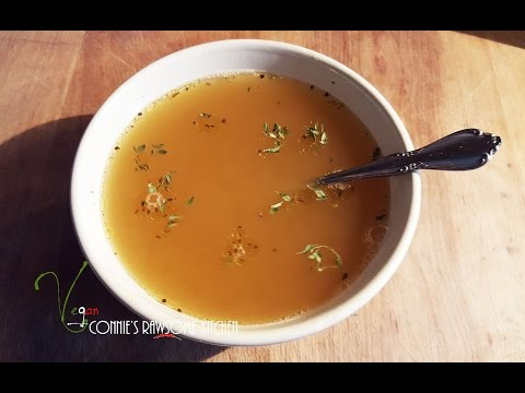 RE-UPLOAD MY VEGAN  CHICKON SOUP BASE- chicken - less -  | Connie's RAWsome kitchen  | copycat
