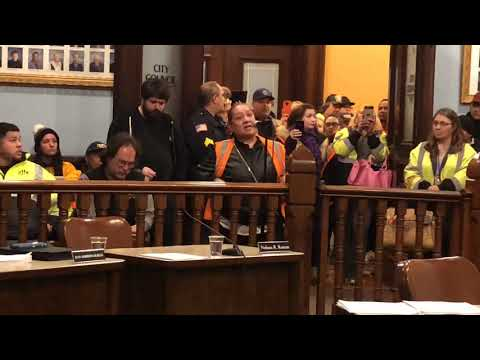 Over 60 Holyoke school transportation employees pack city council chambers protesting change to van system (video)