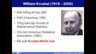 Bài giảng 25: Phương pháp phân tích phương sai phi tham số