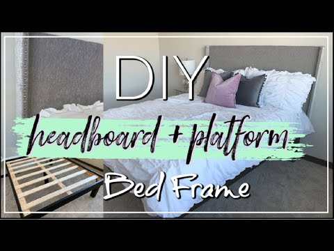 DIY Upholstered Headboard + Platform Bed Frame | DIY QUEEN BED | Momma From Scratch