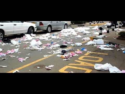 Loads of Garbage strewn all over Nairobi Town, City Council workers on a Go Slow