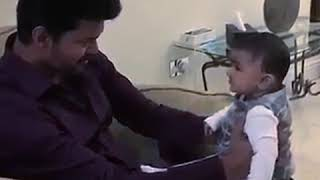 Thalapathy Vijay new viral video with Baby boy