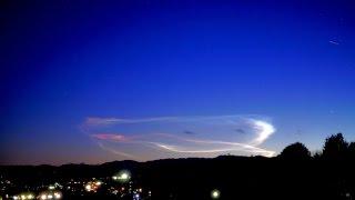 きれいな夜光雲