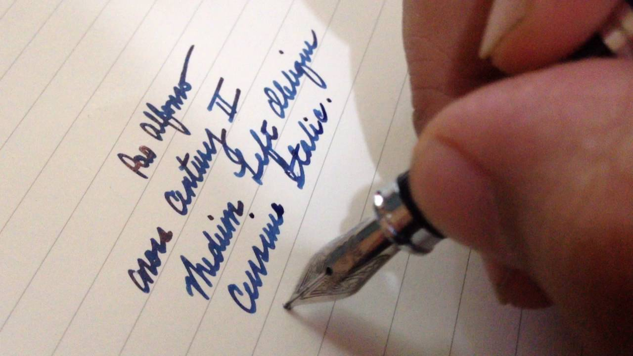 Writing Sample Of Left Oblique Cursive Italic Nib Youtube