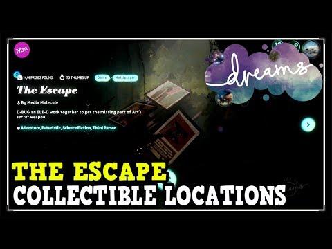 Dreams PS4 The Escape All Prize Collectible Locations (Art's Dream The Escape Prizes)