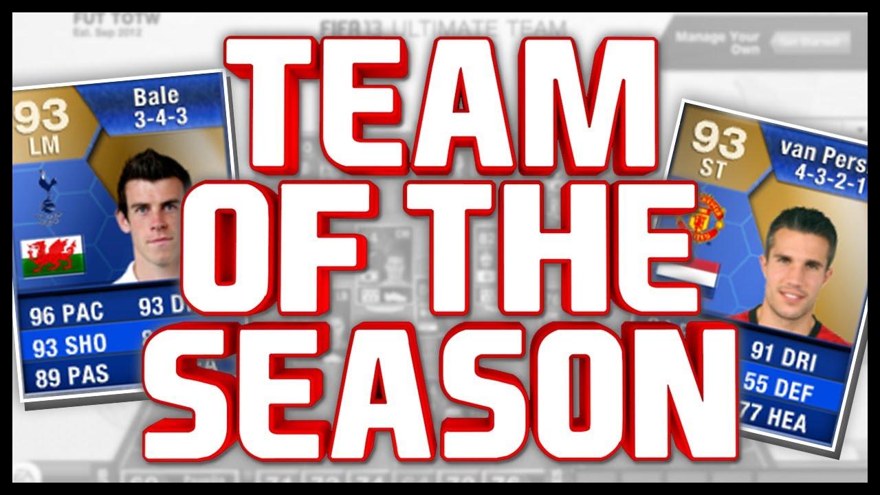 FIFA 13 Premier League Team Of The Season (TOTS) - YouTube  Fifa 13 Team Of The Season