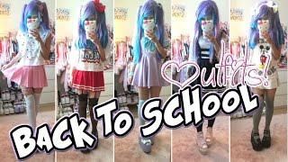 Back to school 2015 outfit ideas! (different/kawaii outfits) - gymnasiet (skolan)