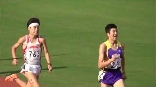 群馬県高校対抗陸上2016 男子1部1500m決勝