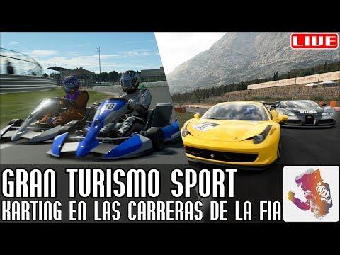 Gran Turismo Sport || ¡Karting en las carreras de la FIA! (y después GT4) || LIVE thumbnail