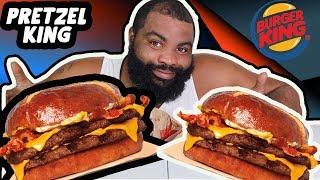 burger king pretzel bun| pr gang| pretzel bacon king| bk| peep this out| pretzel bacon cheeseburger