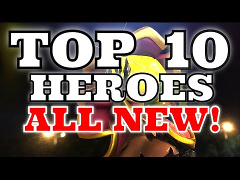 ALL NEW!  Castle Clash TOP 10 Heroes TOP 10 Castle Clash Heroes