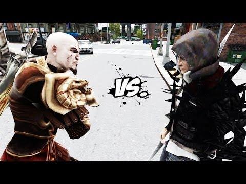 ALEX MERCER VS KRATOS - EPIC BATTLE - GTA IV