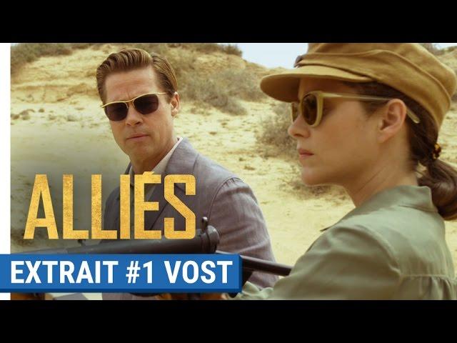 ALLIÉS - Extrait #1 : Entraînement au tir avec Brad Pitt & Marion Cotillard (VOST)