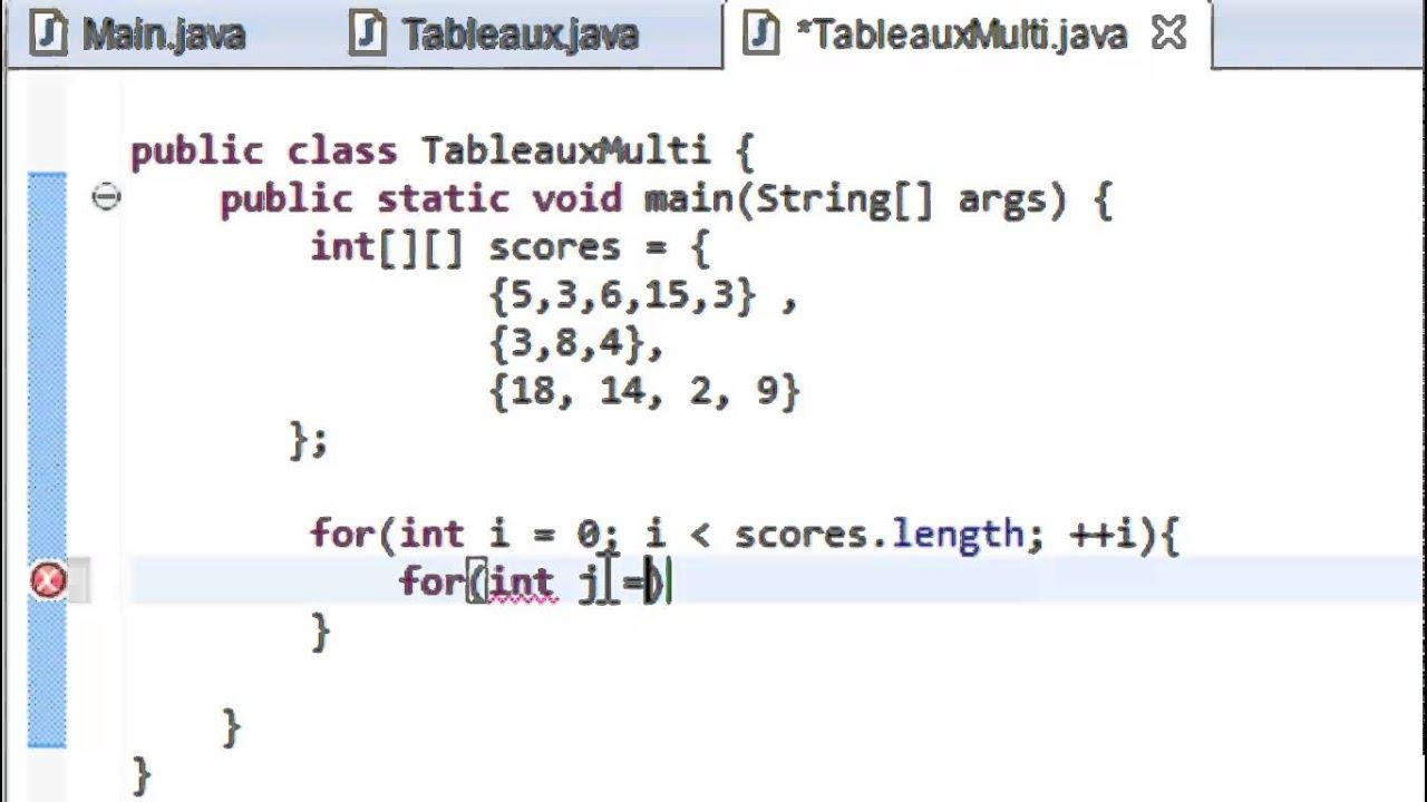 programmer en java debutant 54 tableaux multidimensionnels
