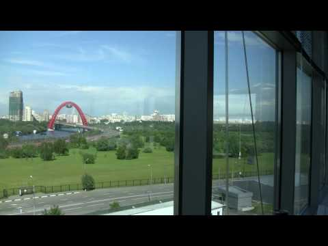 View of the Moscow Skyline from the 4th floor of the Microsoft Russia Office