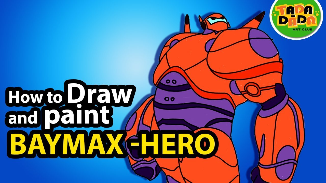 How To Draw BAYMAX From Movie BIG HERO 6