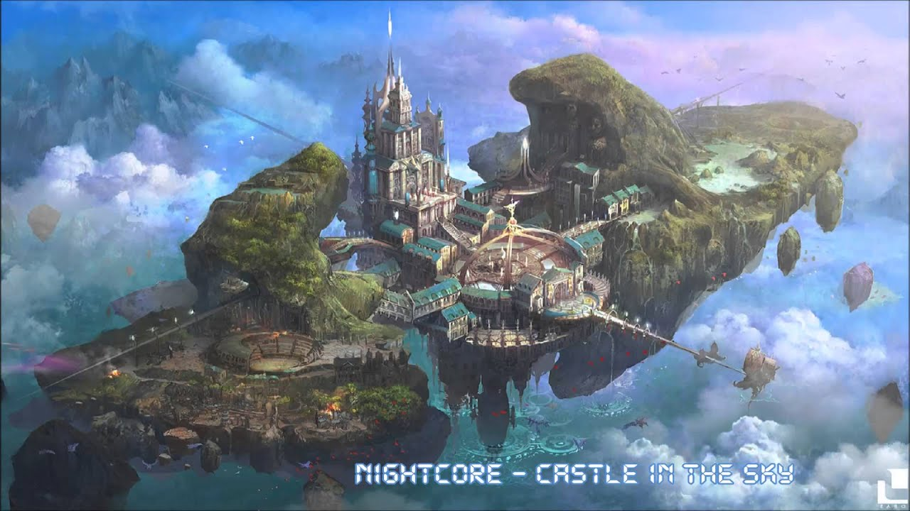 Wallpaper Of Water Fall Nightcore Castle In The Sky Youtube