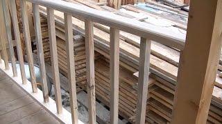 видео Бетонные перила для крыльца, лестницы или балкона своими руками