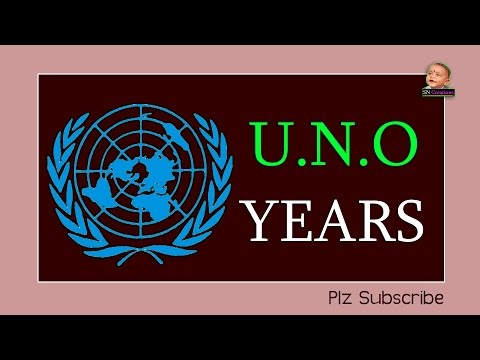 General Knowledge Video ''UNO Years'' - English