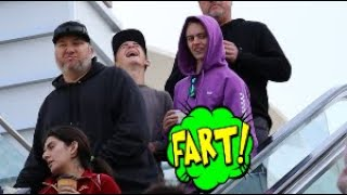 Funny Wet Fart Prank In A Tesla And Escalator | The Sharter Toy