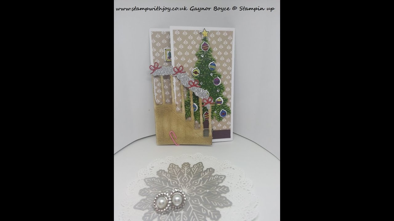 ready for christmas tri fold card stampin up