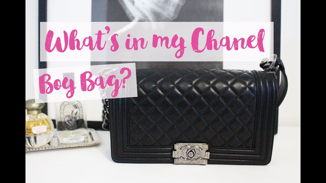 ce043b1dea9c49 What's In My Chanel Boy Bag? | Chase Amie - YouTube