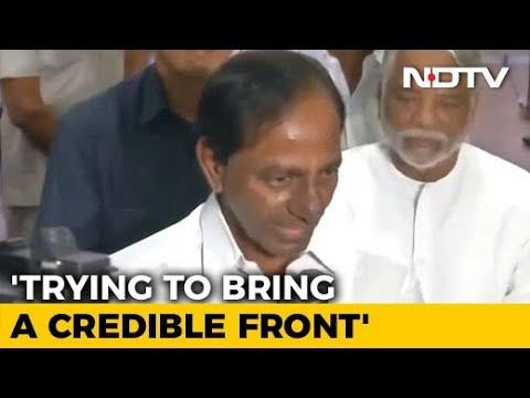 """""""Federal Front In Making"""": Telangana's KCR After Meeting Mamata Banerjee"""