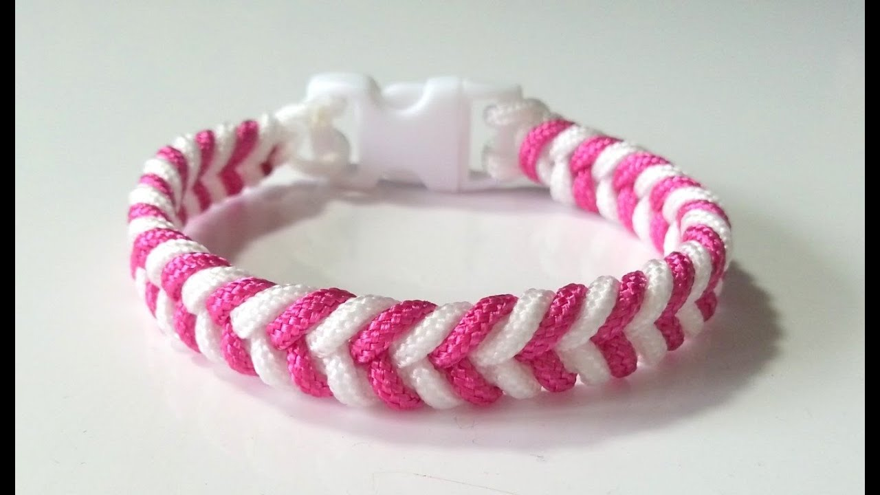 Gut gemocht DIY Comment faire un bracelet Paracord Créacord - YouTube ZT72