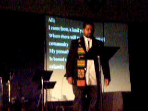 Seth Naicker speaking at Messiah College- Grantham-Pennsylvania, U.S.A