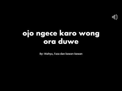 Ojo Ngece (lirik)