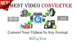 Best Video Converter - Convert Your Videos  In Any Format - Hindi/Urdu