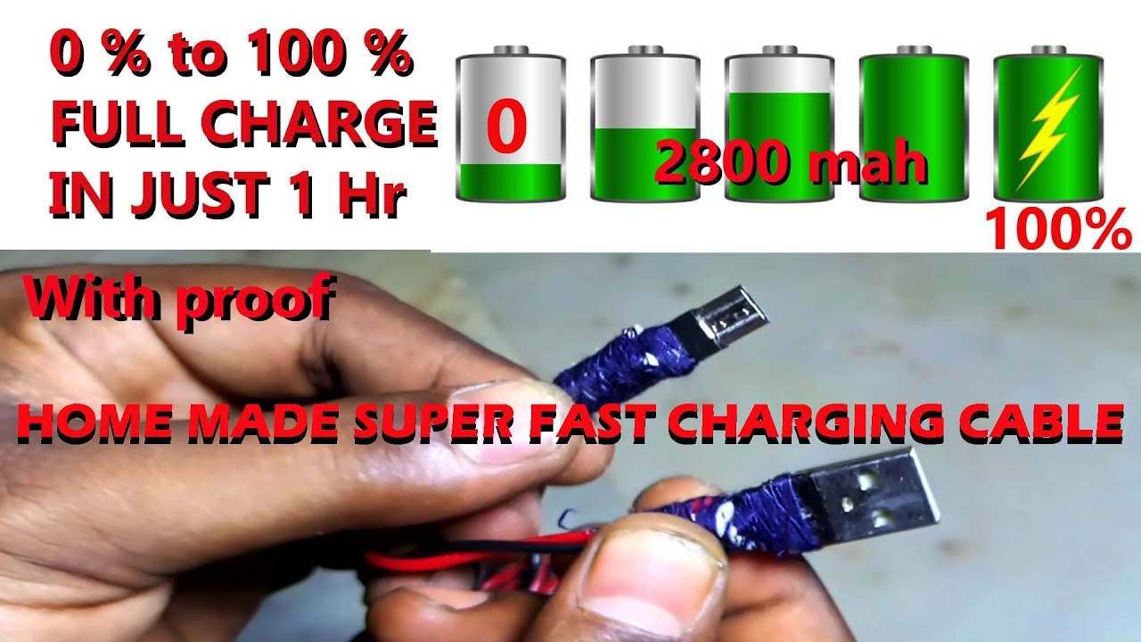 How To Make A High Speed Micro Usb Charging Cable