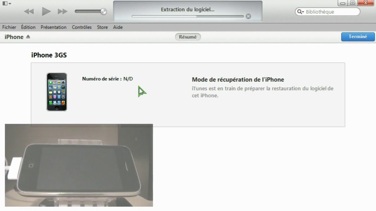 fichier de restauration iphone 3gs