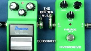 Ibanez TS 9 Tube Screamer vs NUX OD-3 OVERDRIVE  pedal Comparison