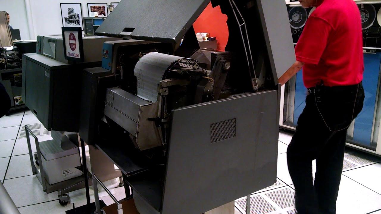 IBM 1403 Printer at the Computer History Museum