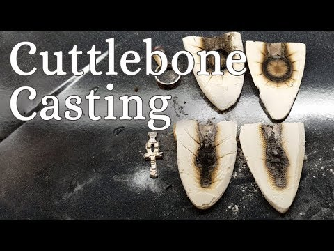 Cuttlebone Metal Casting Tutorial - Making A Silver Ring & Ankh With Cuttlebone