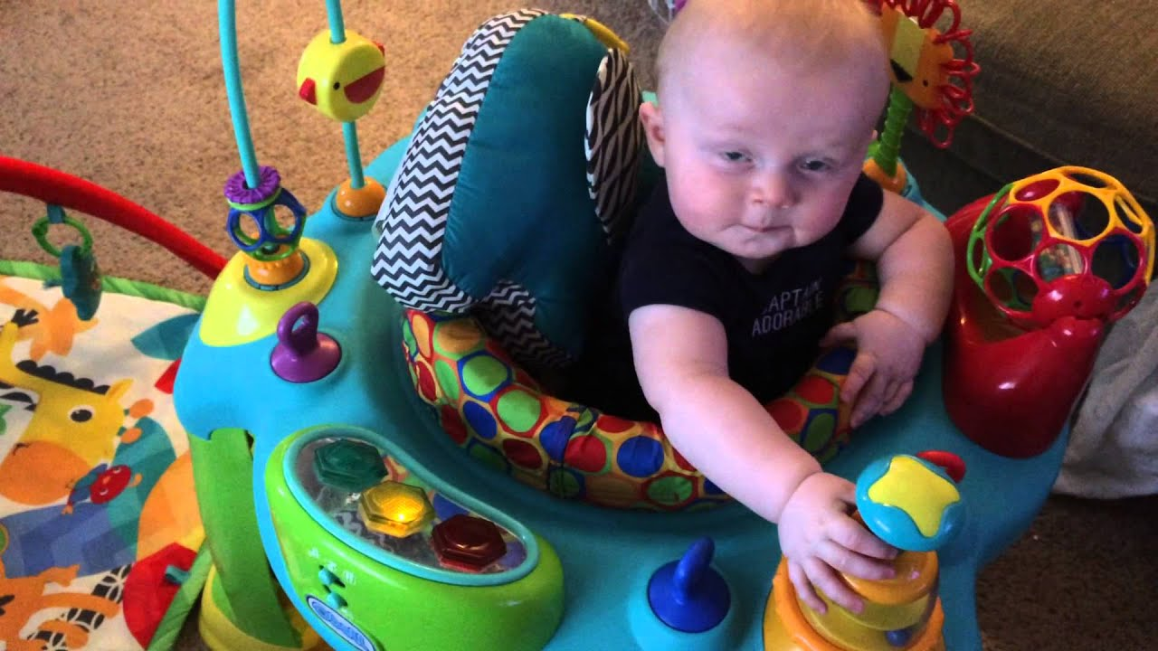 August loves his activity center 6 months old August 2015