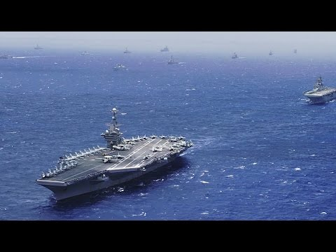 Super Massive Ship Formation – US Navy Exercise RIMPAC