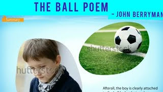 The Ball Poem By John Berryman - (First Flight - X)