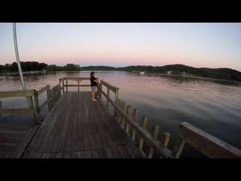 Fishing at Pleasant hill lake