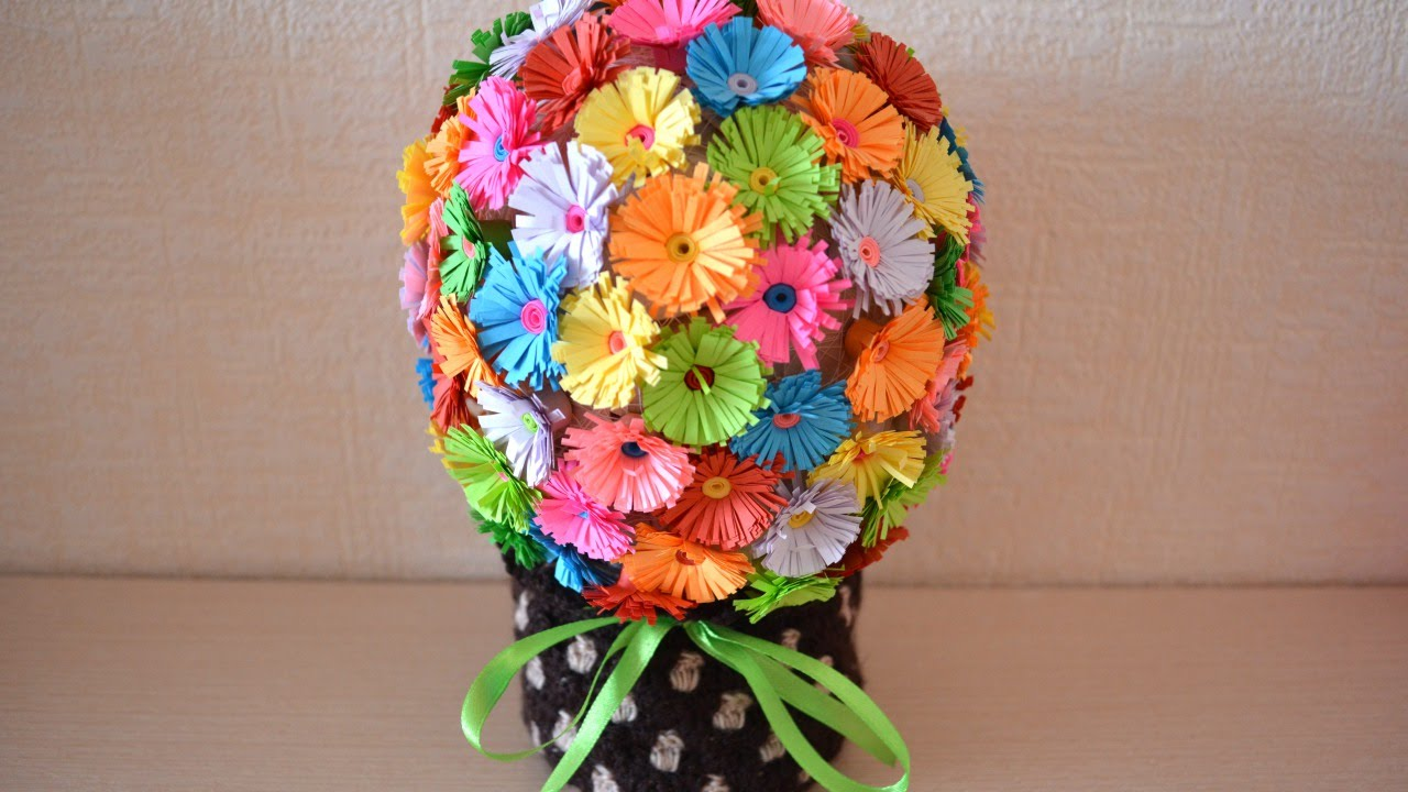 How To Make A Fun Paper Flower Bouquet Diy Crafts Tutorial