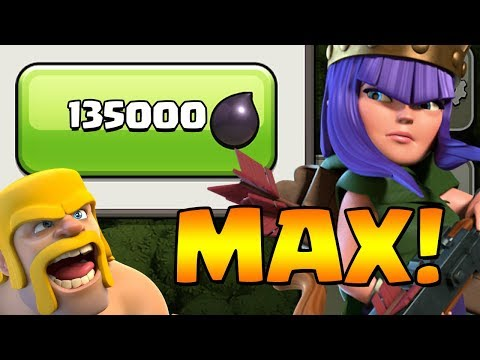 MAX QUEEN!  TH9 Dark Elixir Time | Clash of Clans